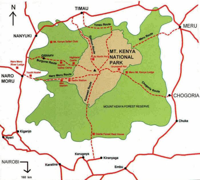 Mount Kenya Map