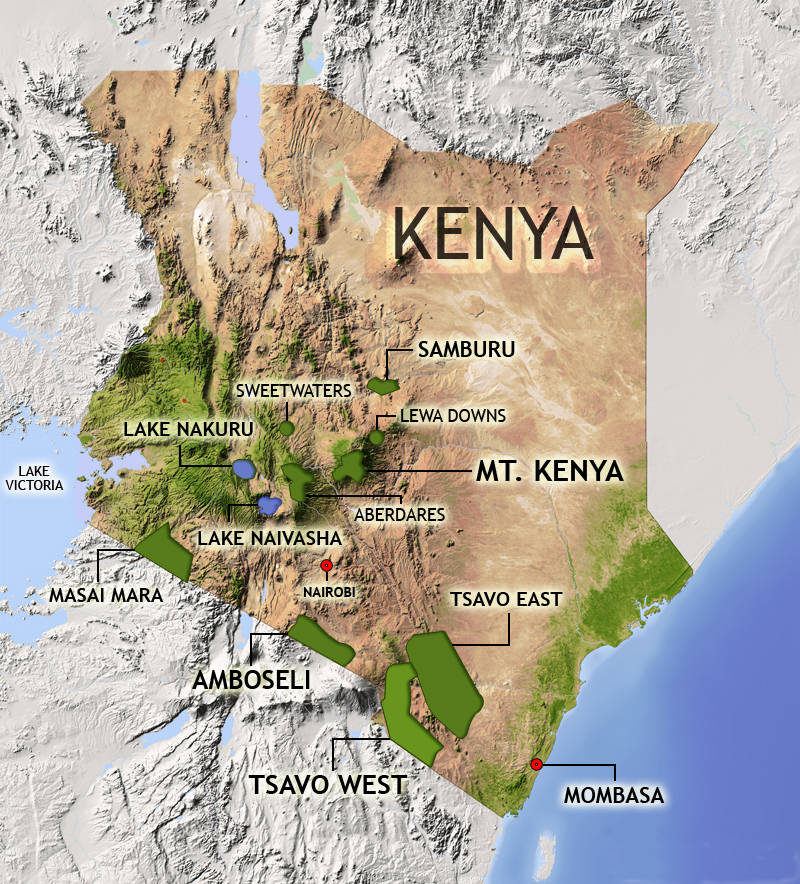 Kenya Safari Map